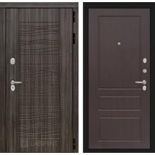 Входная дверь Лабиринт SCANDI 03 - Орех премиум