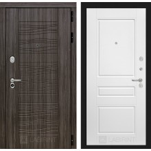 Входная дверь Лабиринт SCANDI 03 - Белый софт