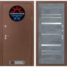 Входная дверь Лабиринт Термо Магнит 20 - Бетон темный, зеркальные вставки