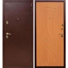 Входная металлическая дверь Лекс 1А (Антик медь-Клен медовый)