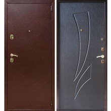 Входная металлическая дверь Лекс 1А (Антик медь-Венге)