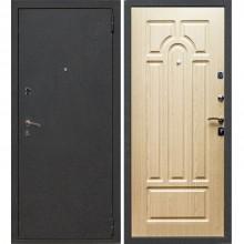 Входная металлическая дверь Лекс 1А (Черный муар-Беленый дуб)