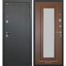 Входная металлическая дверь Лекс 2 с зеркалом (Черный шелк-Береза мореная)