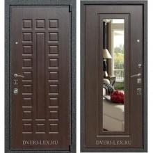 Входная металлическая дверь Лекс 4А Mottura с зеркалом (Венге / Венге)