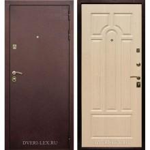 Входная металлическая дверь Лекс 5А (Антик медь-Беленый дуб)